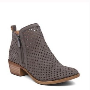 Lucky Brand Basel Ankle Booties in Gray